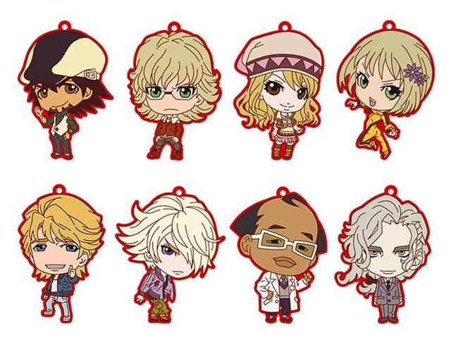 Tiger And Bunny Rubber Collection Keychain Blind Packaging Lot Of 8