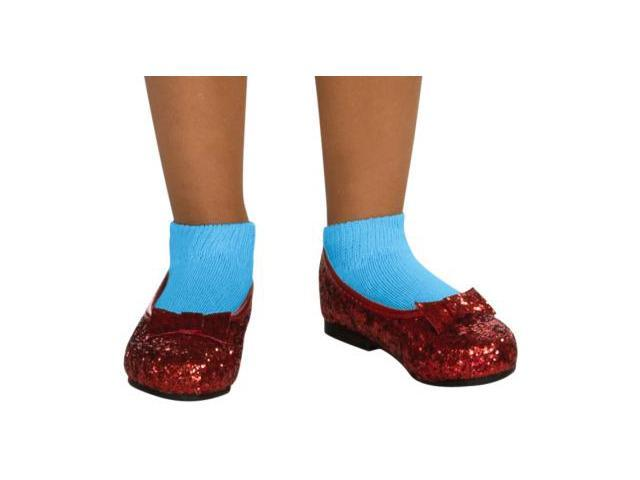 The Wizard Of Oz Dorothy Sequin Costume Shoes Child Size 10