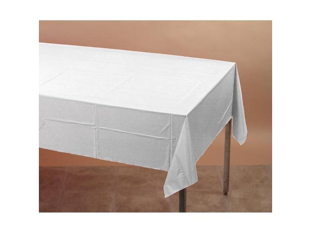 Touch Of Color Plastic Tablecover White