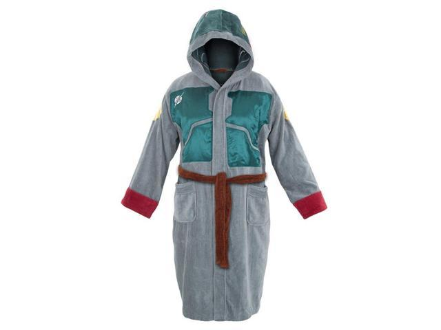 Star Wars Boba Fett Cotton Hooded Adult Robe One Size