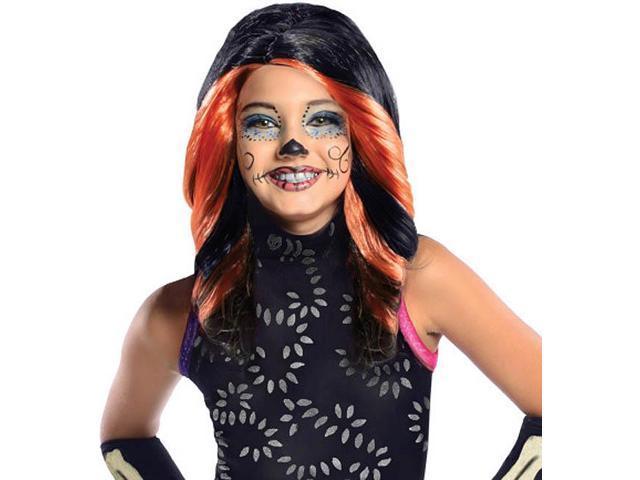 Monster High Skelita Calaveras Costume Wig Child: Orange & Black