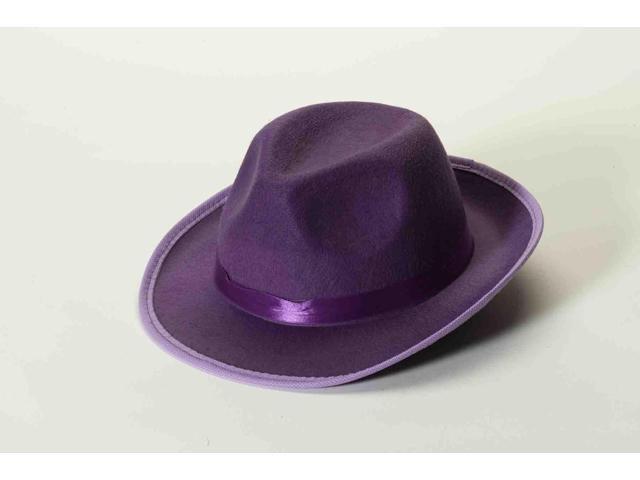 Purple Felt Adult Costume Fedora One Size