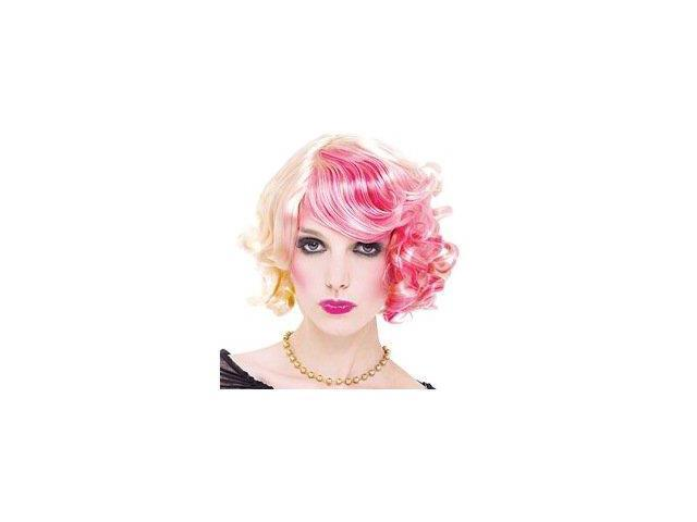 Fashion Victim Pink Blonde Adult Costume Wig One Size