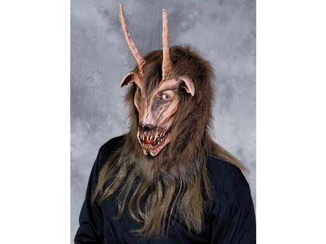 Krampus Goat Overhead Costume Mask Adult One Size