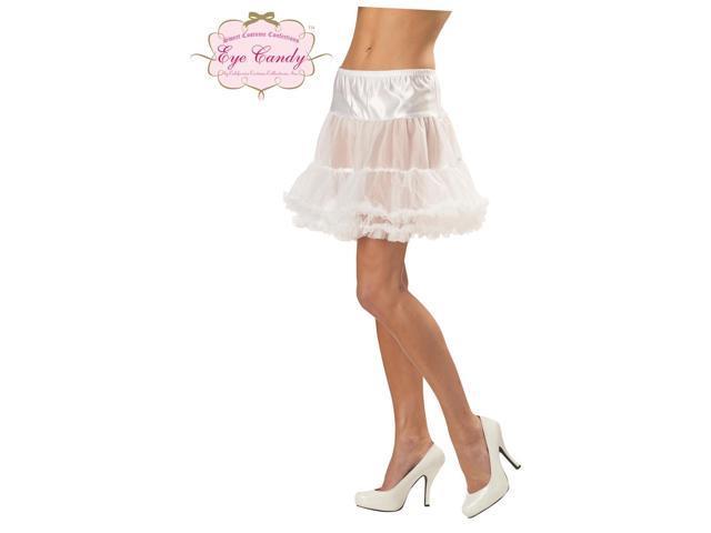 White Ruffled Petticoat Costume Accessory Large/X-Large