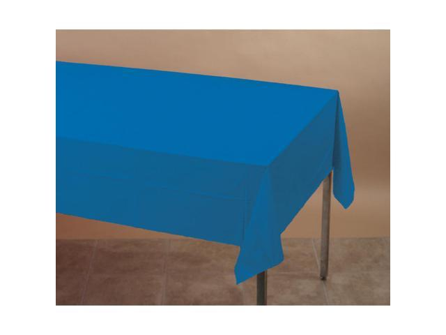 Touch Of Color Plastic Tablecover True Blue