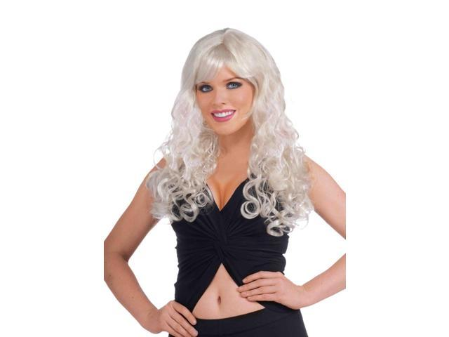 Long Curly Blonde Adult Female Sweetheart Wig One Size