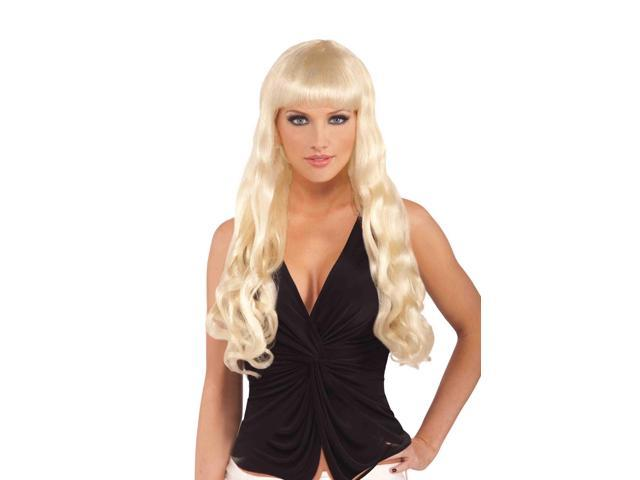 Adult Female Long Wavy Blonde Costume Wig One Size