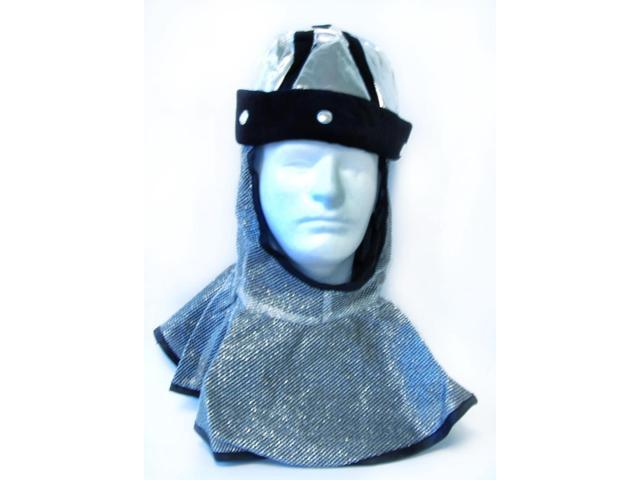 Chain Mail Helmet: Silver/Black