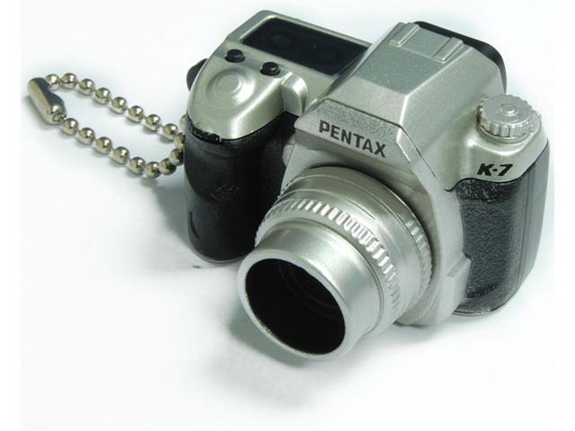 Pentax Capsule Mini Camera Keychain K-7 Limited Silver Camera