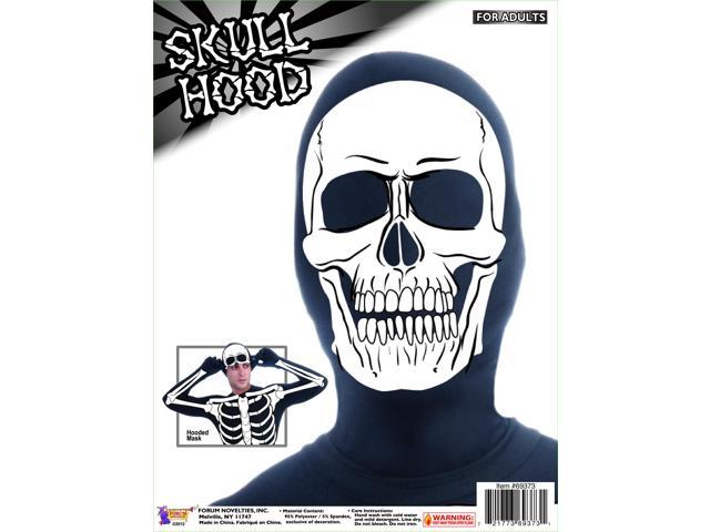 Disappearing Man Costume Hood: Skull One Size