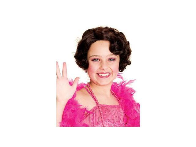 20'S Flapper Child Costume Wig One Size
