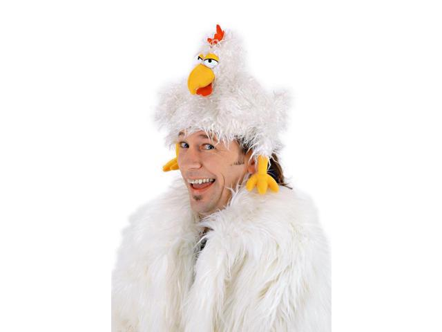 The Clucker Costume Chicken Hat Adult One Size