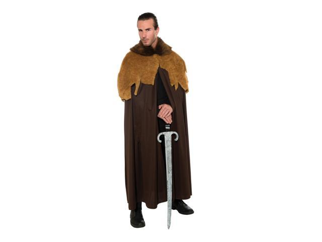 Medieval Warrior Costume Cloak Cape Adult One Size Fits Most