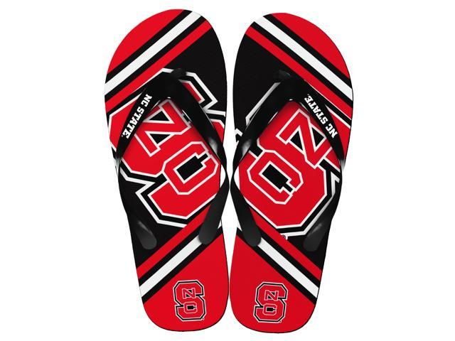 North Carolina State Wolfpack Unisex Big Logo Flip Flops Large (M 9-10)