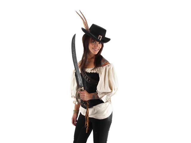 Pirates Of The Caribbean Angelica Hat Costume Accessory Adult One Size