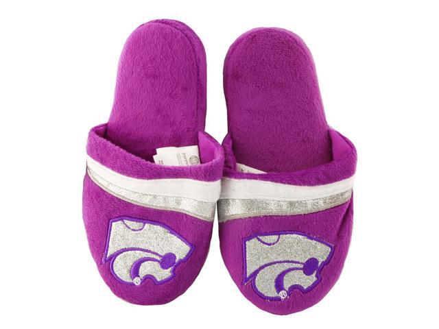 Kansas State Jayhawks Glitter Stripe Slide Slipper Adult X-Large
