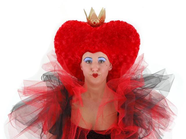 Alice In Wonderland Red Heart Queen Headpiece Adult One Size
