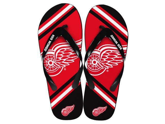 Detroit Red Wings NHL Unisex Big Logo Flip Flops Small (W 7-8)