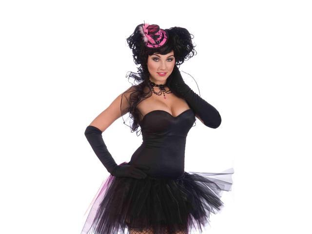 Mini Pink Burlesque Hat Adult Costume Accessory One Size