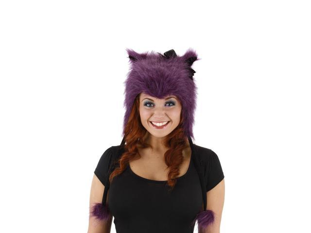 Purple Kitty Costume Laplander Hat Adult One Size
