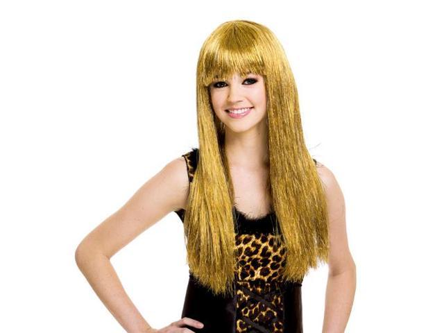 Glitzy Glam Gold Blonde Adult Costume Wig One Size