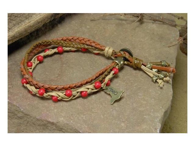 The Lone Ranger Tonto Braided Bead Bracelet