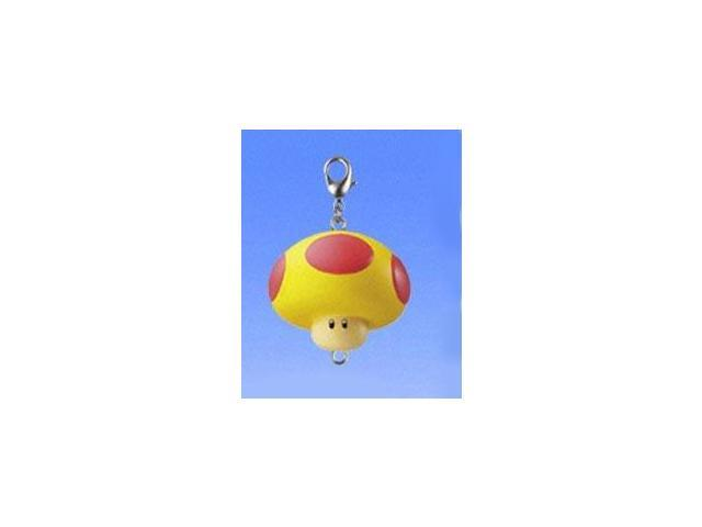 Super Mario Brothers Connecting Clip On/Keychain Yellow & Red Mushroom