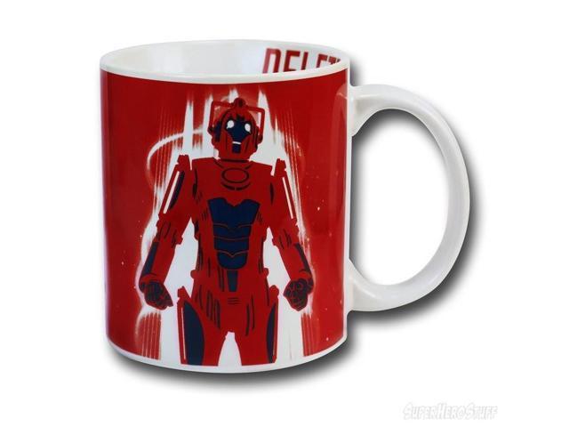 Doctor Who Red Cyberman Ceramic Coffee Mug
