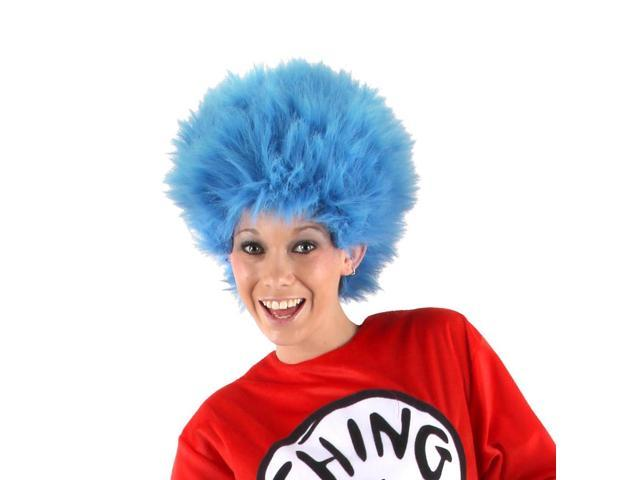 Dr. Seuss Thing 1 & 2 Blue Costume Wig Adult One Size