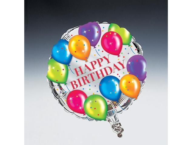 Happy Birthday Round Foil Balloon