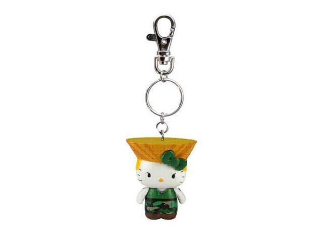Street Fighter X Sanrio Mobile Key Chain Guile