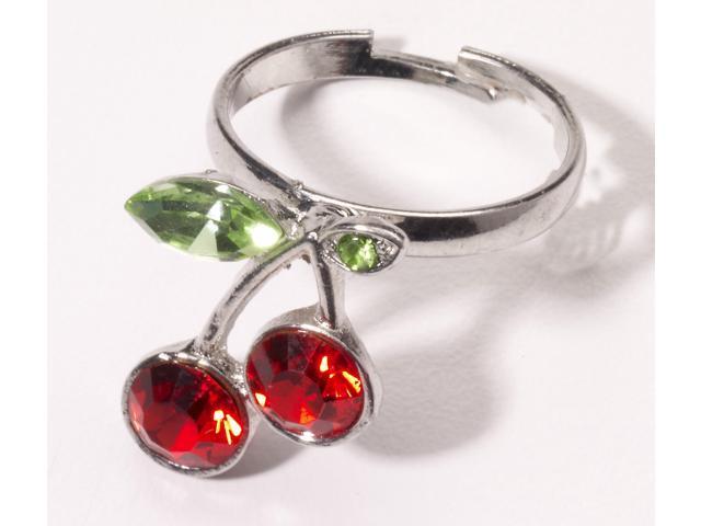 Retro Rock Cherry Ring Costume Jewelry Adult One Size