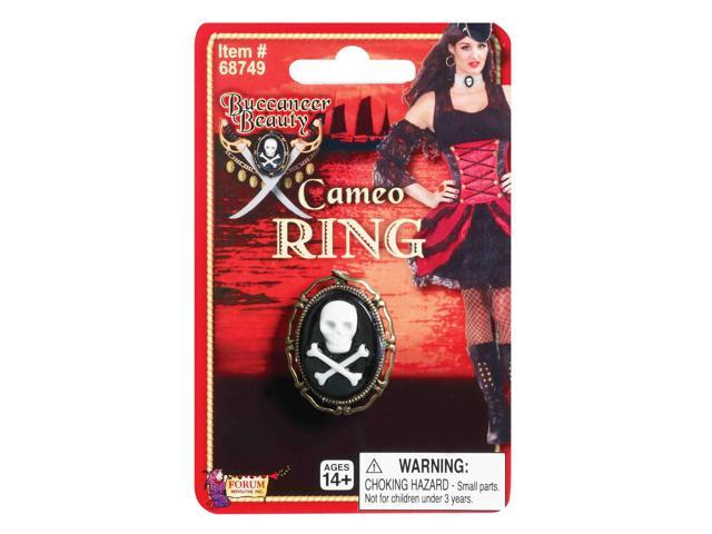 Pirate Wench Skull And Crossbone Costume Cameo Ring One Size