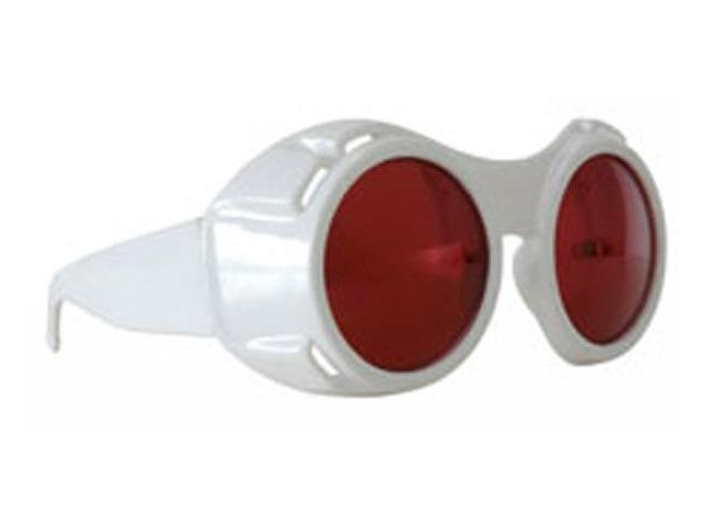 Hyper Vision Costume Goggles: White & Red One Size