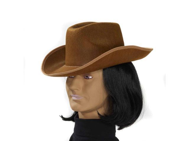 Brown Felt Cowboy Costume Hat Adult One Size