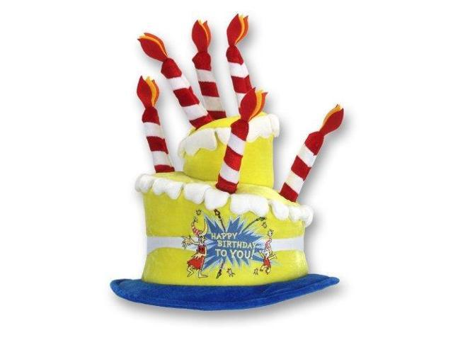 Dr. Seuss Happy Birthday Costume Hat Adult One Size
