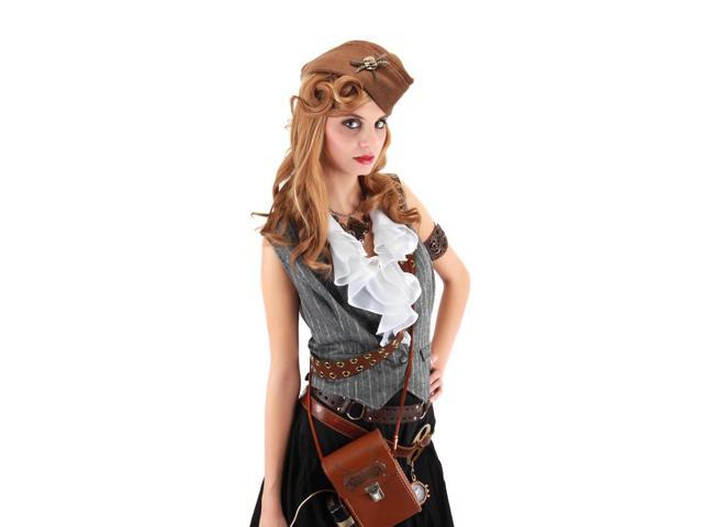 Steampunk Brown Naval Officer Costume Hat Adult One Size