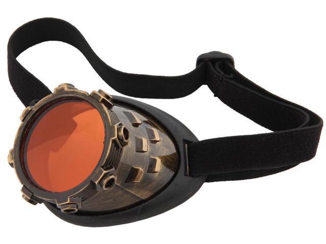 Steampunk CyberSteam Costume Eye Patch Gold Orange Adult One Size