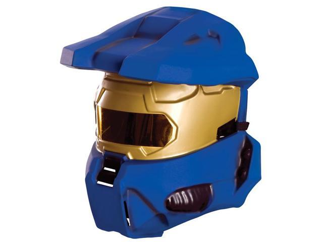 Halo Blue Spartan Costume Half Mask Adult One Size