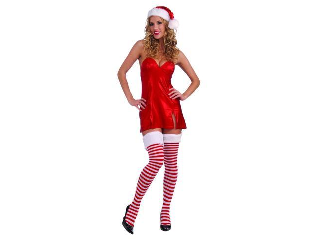 Christmas Thigh Highs With Fur Trim Costume Accessory One Size
