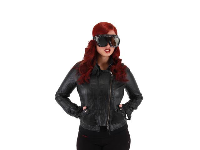 Apocalypse Costume Goggles Adult: Black One Size