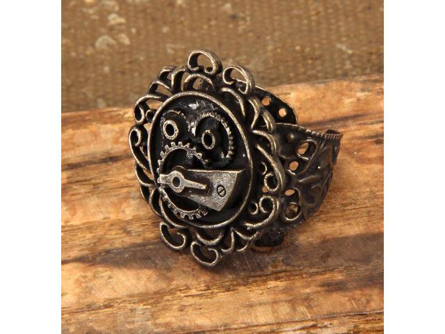 Steampunk Antique Single Gear Costume Ring Adult One Size