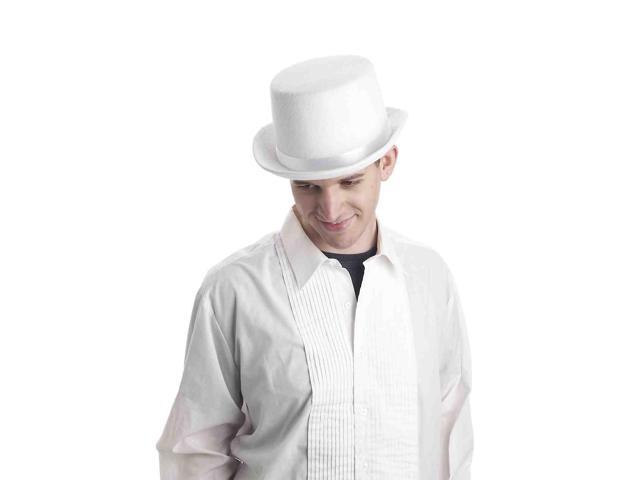 Super Deluxe White Adult Male Costume Top Hat One Size