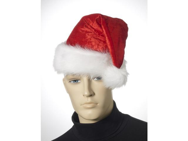Velour Santa Hat Christmas Costume Accessory One Size Fits Most