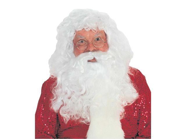 Santa Wig & Beard Professional Christmas Costume Accessory Set One Size Fits Most