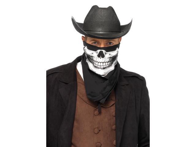 Black Skull Costume Accessory Bandana One Size