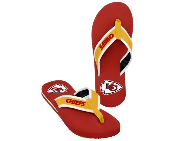 Kansas City Chiefs NFL Mens Team Color Contour Flip Flops X-Large (12-13)
