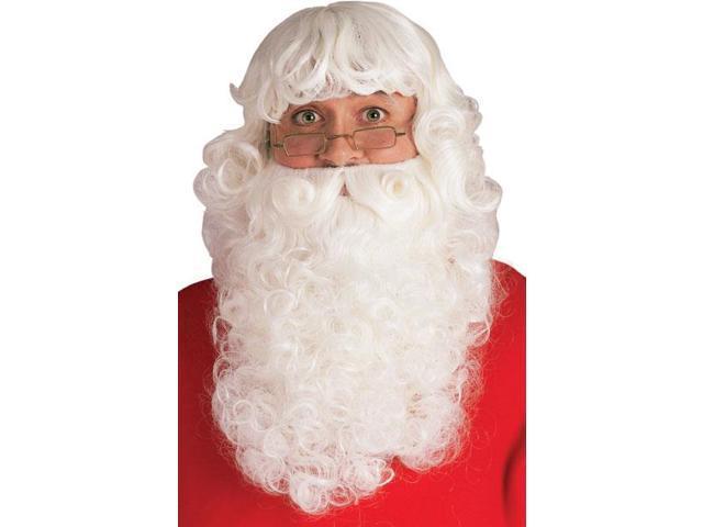 Deluxe Santa Beard And Wig Set