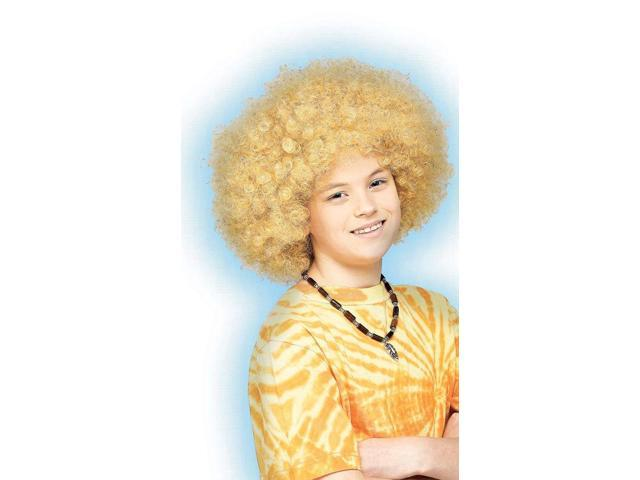 Supa Fro Blonde Child Costume Wig One Size